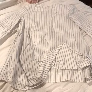 COS shirt blue and white striped